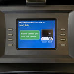 ATM display screen instructions