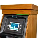 wooden atm cabinet display screen