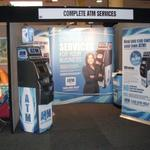 complete atm services trade show stand