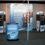 complete atm service trade show display